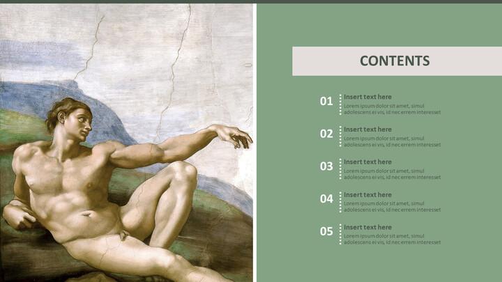 """Google 슬라이드 무료 다운로드 - 미켈란젤로 Buonarroti \""""아담의 창조\""""_02"""