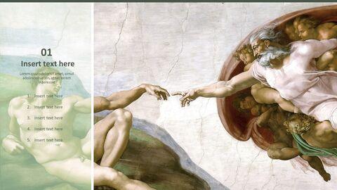 """Google 슬라이드 무료 다운로드 - 미켈란젤로 Buonarroti \""""아담의 창조\""""_03"""