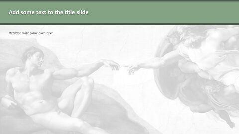 """Google 슬라이드 무료 다운로드 - 미켈란젤로 Buonarroti \""""아담의 창조\""""_04"""