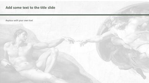 """Google 슬라이드 무료 다운로드 - 미켈란젤로 Buonarroti \""""아담의 창조\""""_05"""