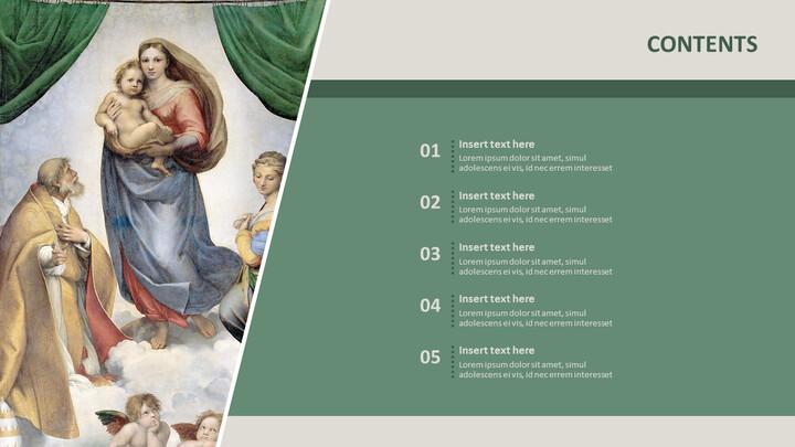"""Google 슬라이드 이미지 무료 다운로드 - 라파엘로 산 치오 \""""시스틴 마돈나\""""_02"""
