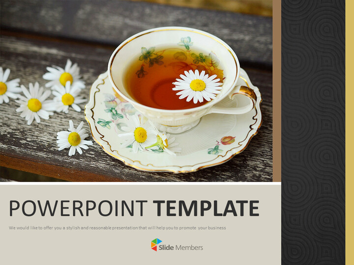 A Cup of Herb TeA - Free Google Slides Templates_01