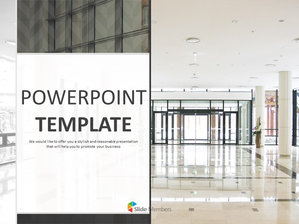 A Lobby At Company Google Slides Template Free Download
