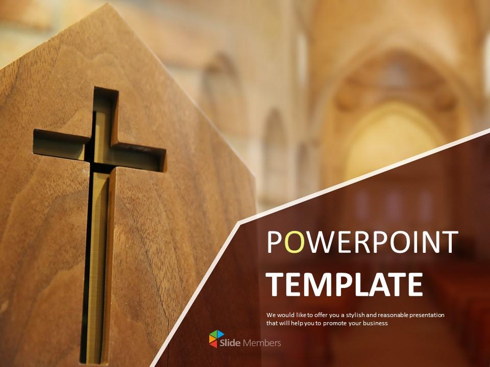 Google Slides Template Free Crucifix In Church