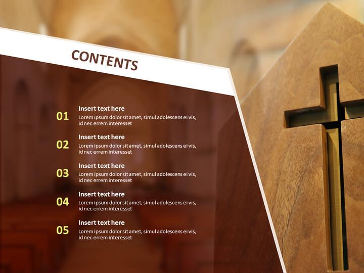무료 Google 슬라이드 템플릿 - 교회에서 십자가_02