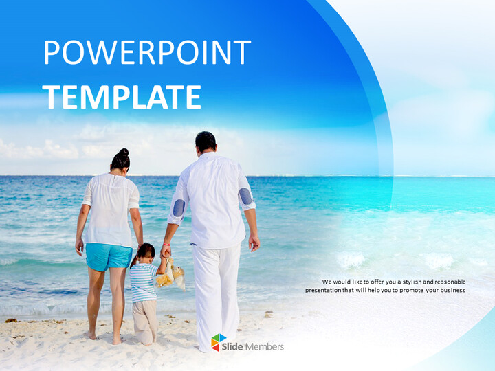 무료 Google 슬라이드 템플릿 - 뒤에서 가족의 모습_01