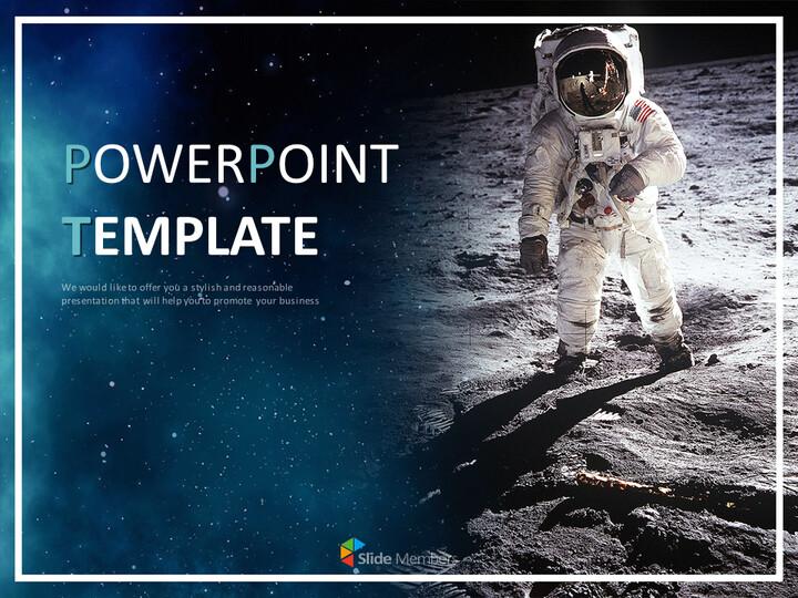 달과 우주 비<span class=\'highlight\'>행사</span> - 무료 Google 슬라이드 템플릿_01
