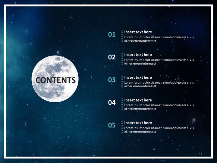 Space Science Simple Google Templates