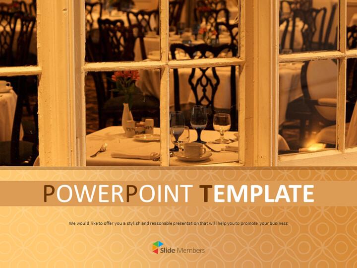 멋진 레스토랑 - 구글 슬라이드 템플릿 무료 다운로드_01