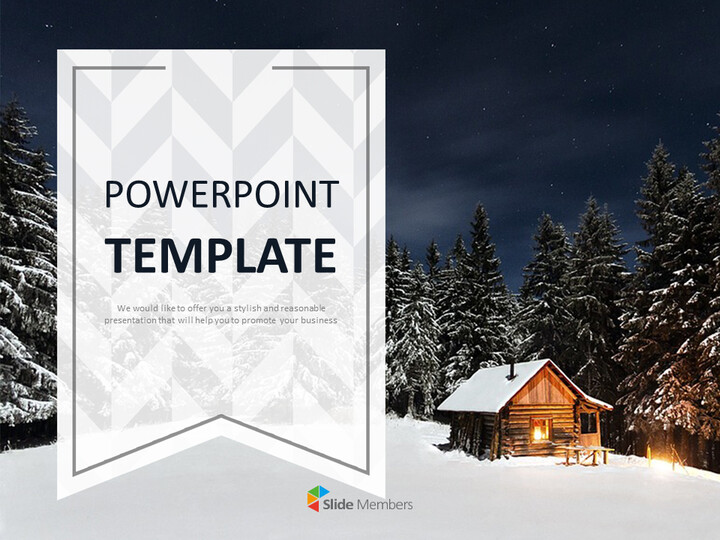 A Hut on the Winter Night - Google Slides Template Free_01