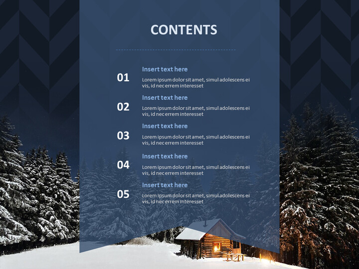 A Hut on the Winter Night - Google Slides Template Free_02