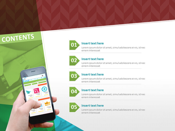 손에 스마트 폰 - Google 슬라이드 템플릿 무료 다운로드_02