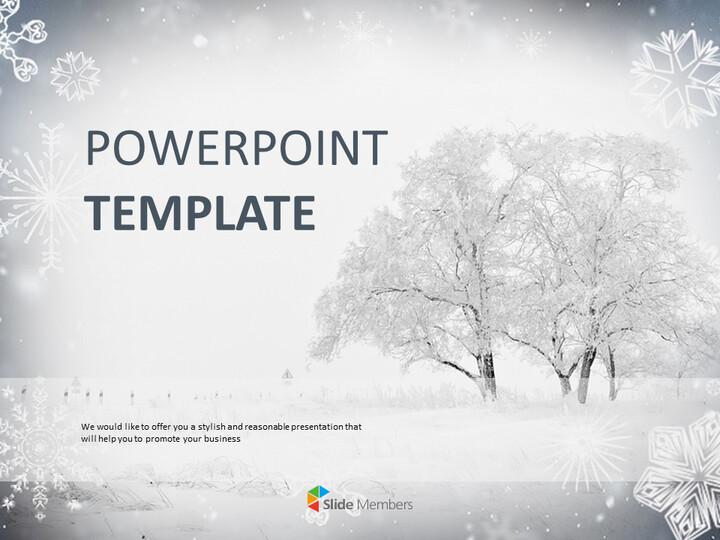 겨울 풍경 - 무료 구글 슬라이드 템플릿 디자인_01