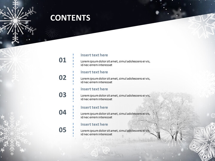 겨울 풍경 - 무료 구글 슬라이드 템플릿 디자인_02