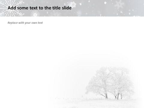 겨울 풍경 - 무료 구글 슬라이드 템플릿 디자인_03