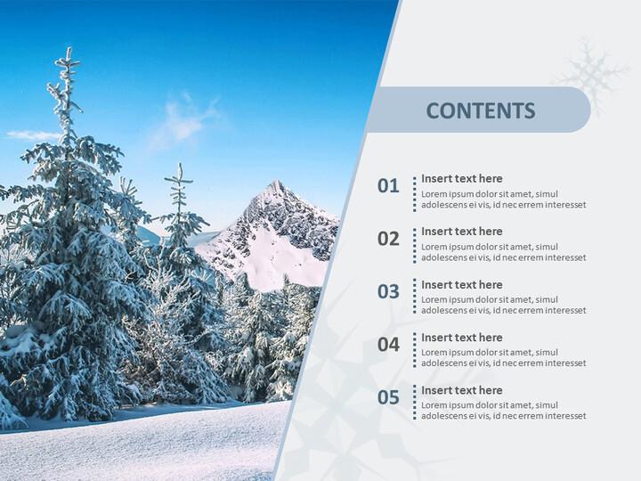 무료 구글슬라이드 - 눈으로 덮인 겨울 산_02