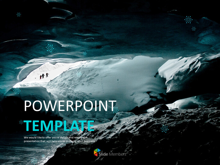 겨울 동굴 - 무료 프리젠테이션 템플릿_01