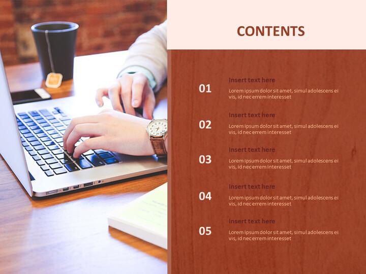 비즈니스 및 노트북 - Google 슬라이드 이미지 무료 다운로드_02