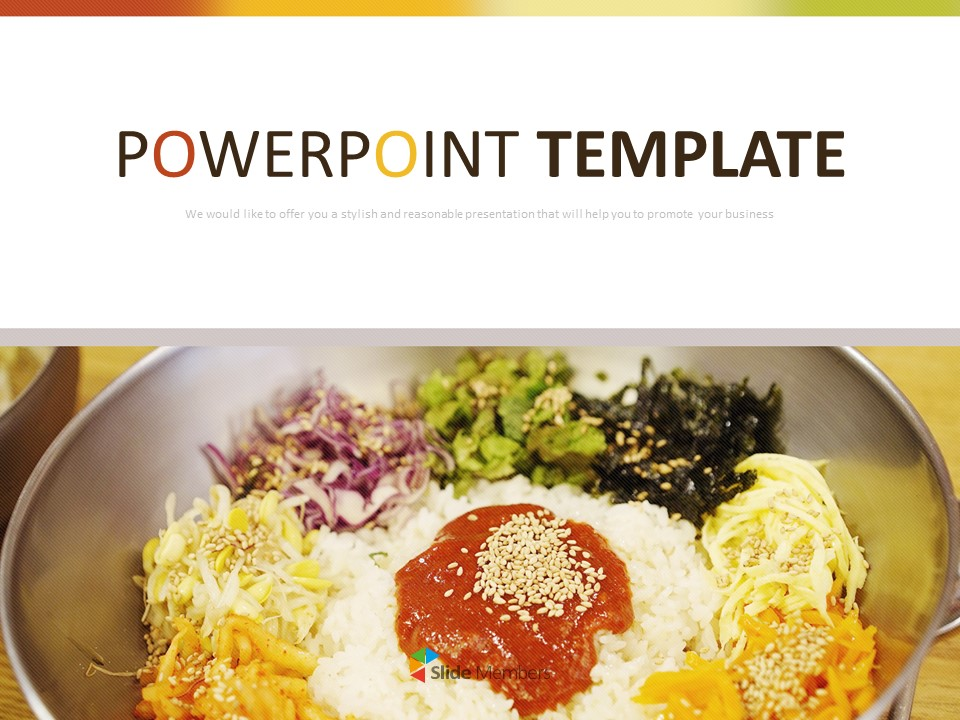 Free Google Slides Themes Korea Traditional Food Bibimbab