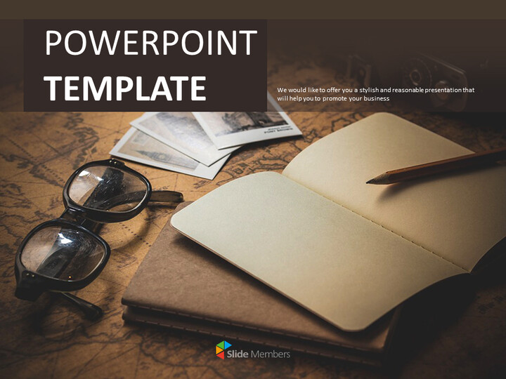 Free Presentation Templates - A Note and a Pen_01