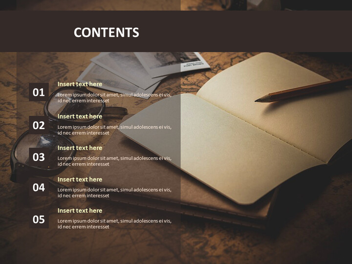 Free Presentation Templates - A Note and a Pen_02