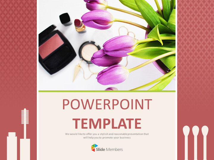 Make-up and Flowers - Google Slides Template Free_01
