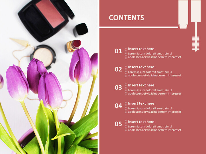 Make-up and Flowers - Google Slides Template Free_02