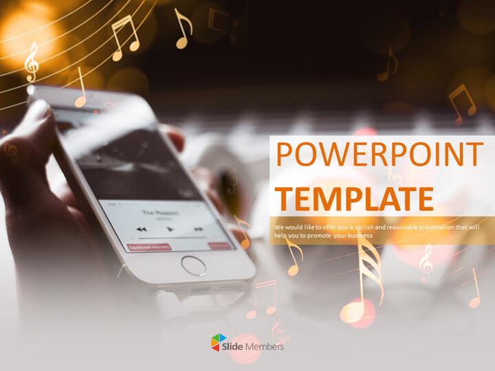 핸드폰 음악 - 무료 Google 슬라이드 템플릿_01