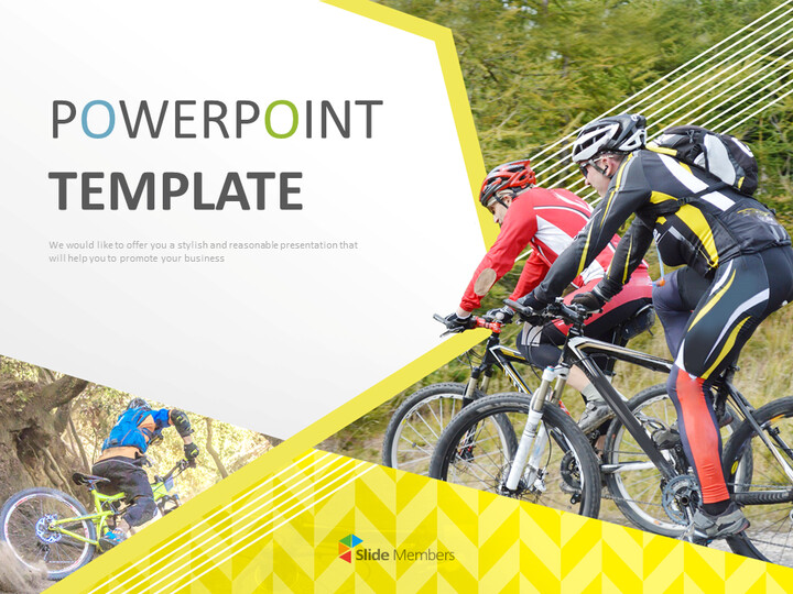 Free Google Slides Backgrounds - Mountain Bicycle_01