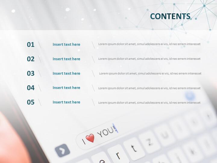 무료 Google 슬라이드 테마 - 사랑의 메시지_02