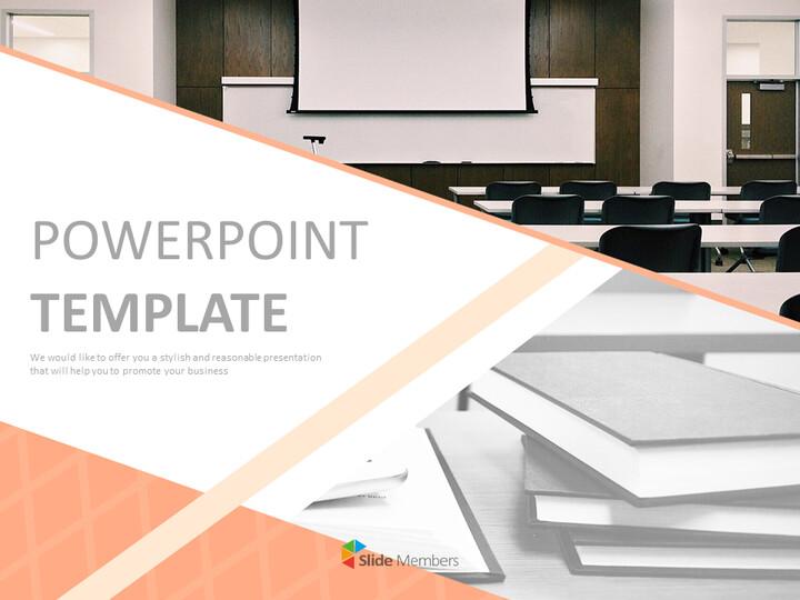 무료 Google 슬라이드 - 교실과 책_01