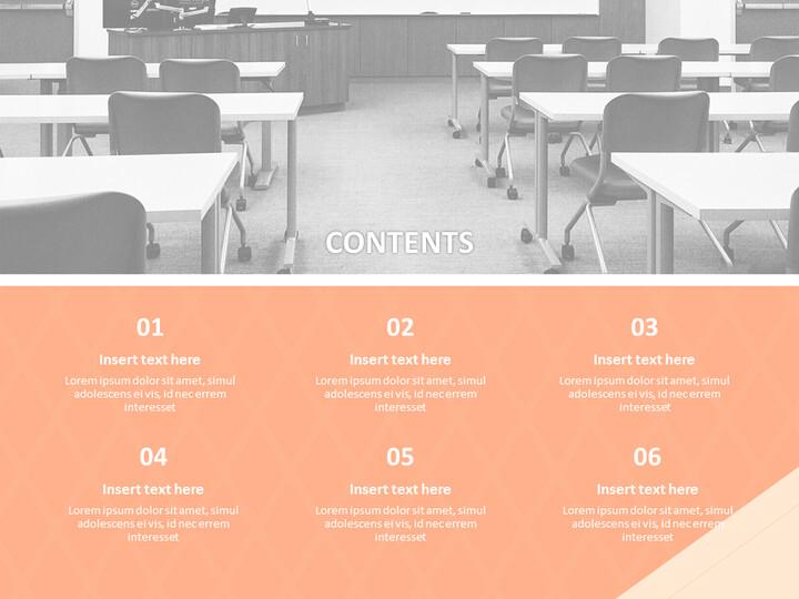 무료 Google 슬라이드 - 교실과 책_02