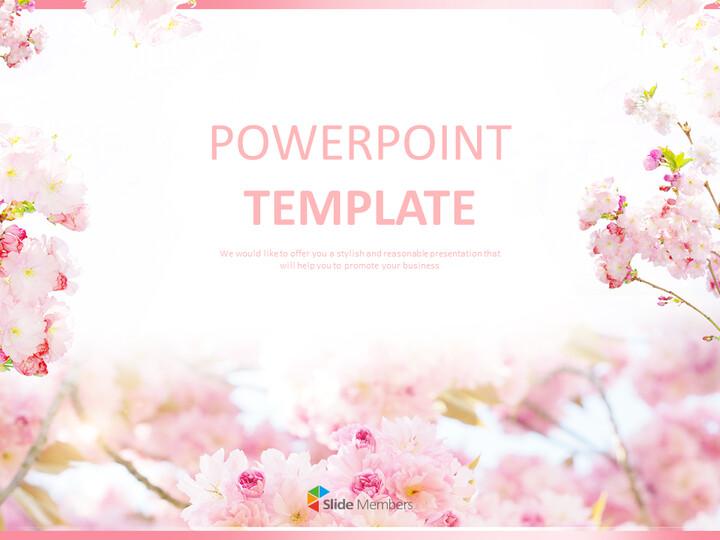 Free Google Slides - Pink Cherry Blossoms_01