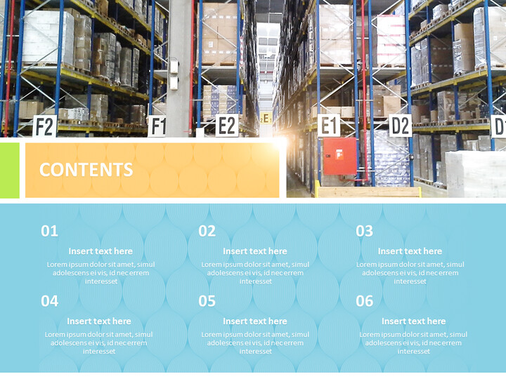 Free Google Slides Template - Distribution Movement Warehouse_02