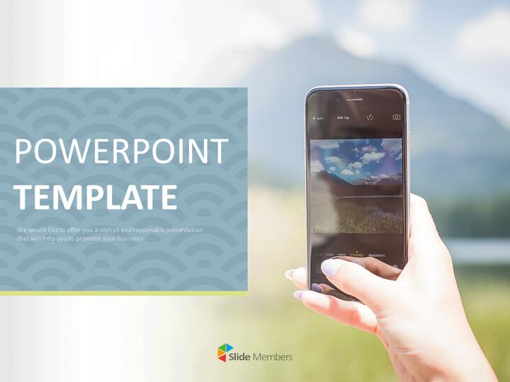 Google 슬라이드 템플릿 무료 다운로드 - 스마트 폰으로 사진 촬영_01