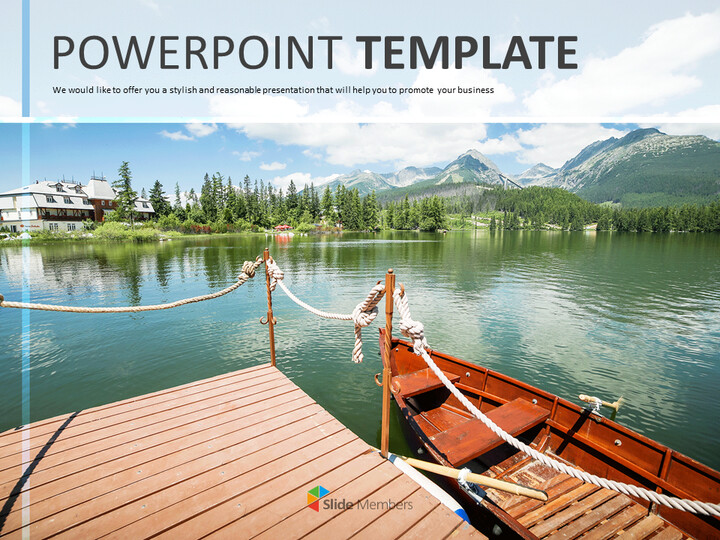 Wooden Boat on a Lake - Free Business Google Slides Templates_01