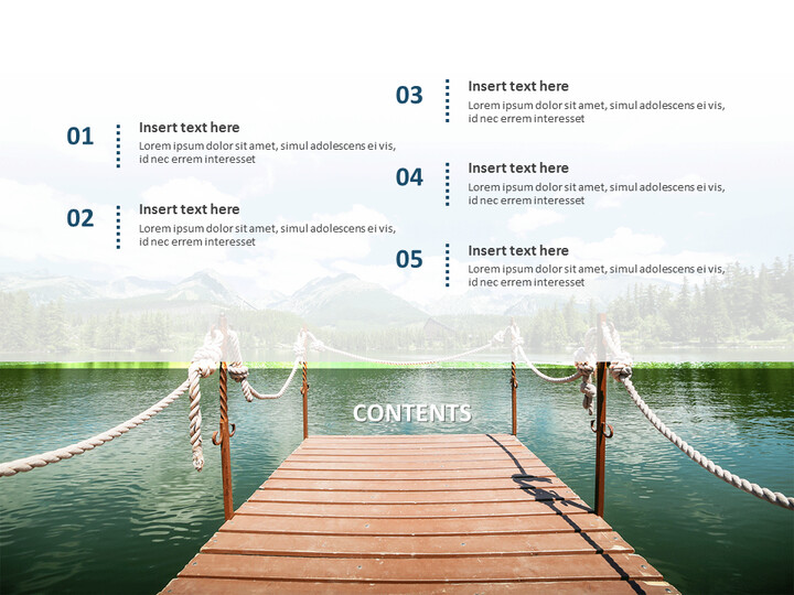 Wooden Boat on a Lake - Free Business Google Slides Templates_02