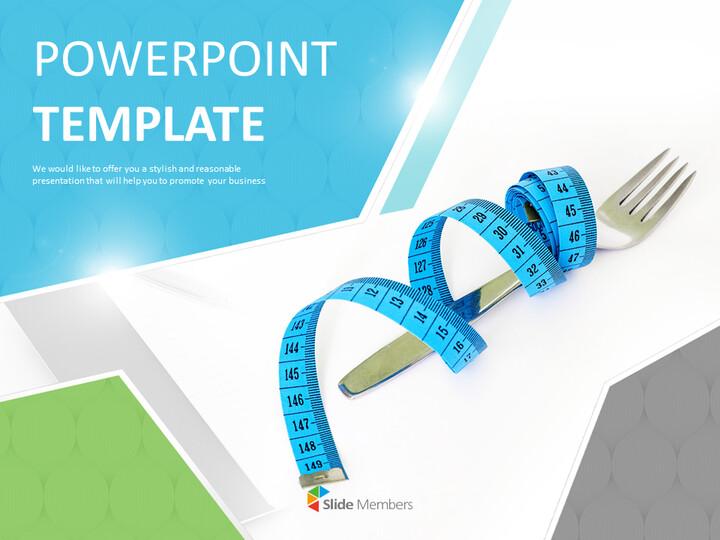 다이어트와 줄자 - 전문가 구글슬라이드 무료 템플릿_01