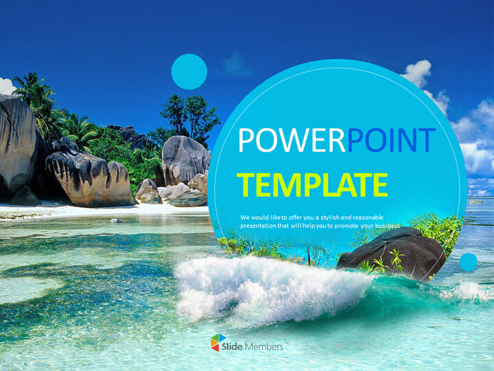 Free Google Slides Template Design - Sea and Waves_01