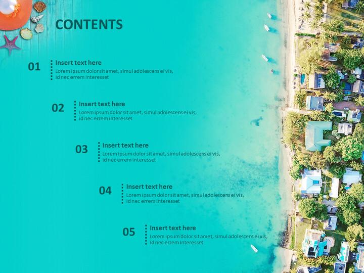 무료 Google 슬라이드 - 해변 도시_02
