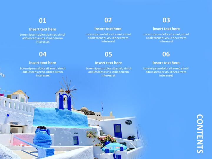 Google 슬라이드 이미지 무료 다운로드 - 블루 산토리니_02