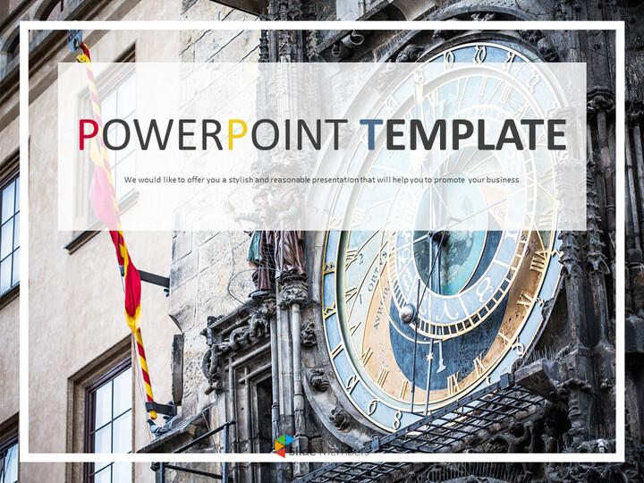 Prahas Clock Tower - 전문가 구글슬라이드 무료 템플릿_01