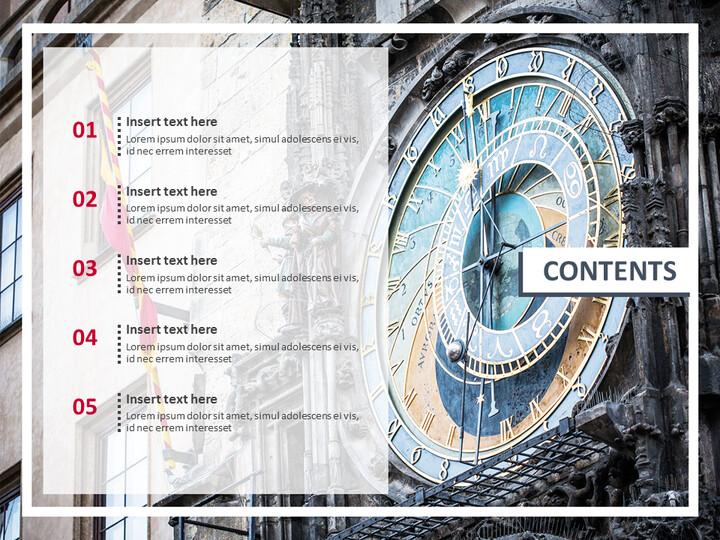 Prahas Clock Tower - 전문가 구글슬라이드 무료 템플릿_02