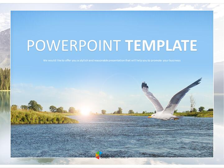 Blue River - Google Slides Template Free Download_01