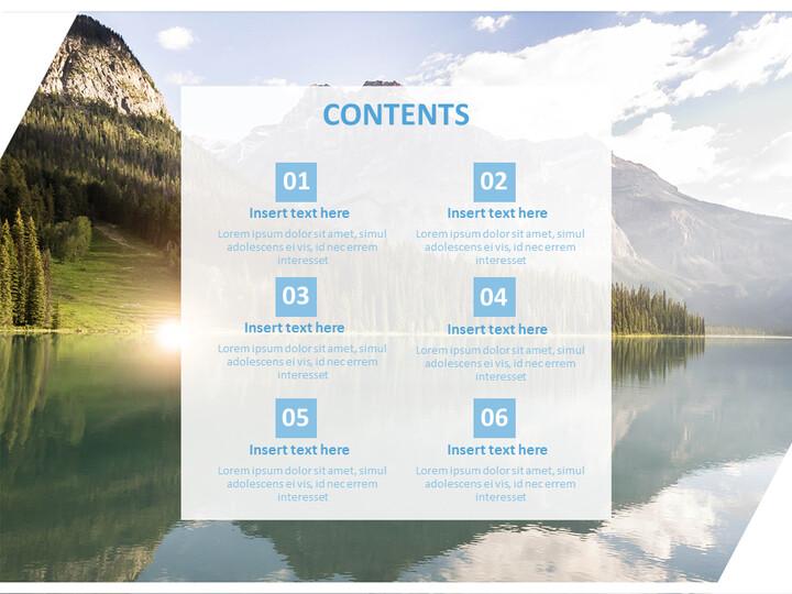 Blue River - Google Slides Template Free Download_02