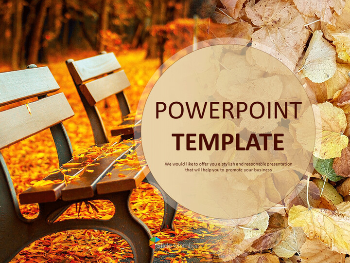 Fall Leaves and Benches - Free Google Slides Template Design_01