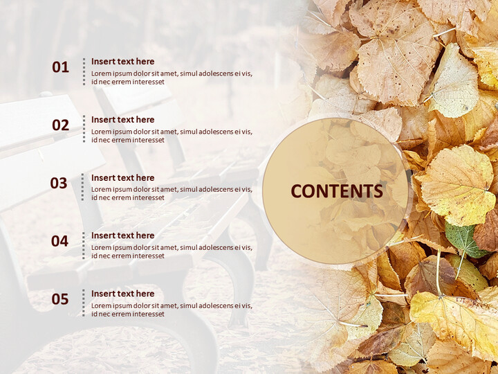 Fall Leaves and Benches - Free Google Slides Template Design_02