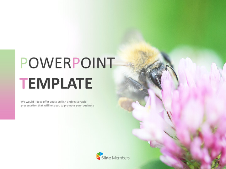 Flowers and Bees - Google Slides Images Free Download_01