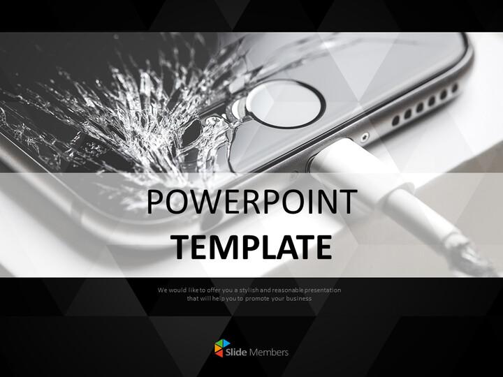 무료 Google 슬라이드 템플릿 - 금이 핸드폰_01