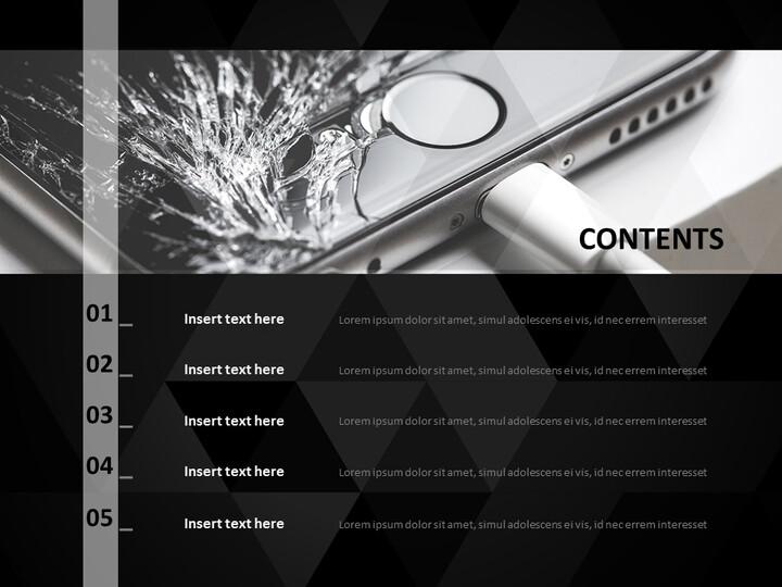 무료 Google 슬라이드 템플릿 - 금이 핸드폰_02